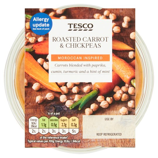 Tesco Roasted Carrot And Chickpea Dip 182G