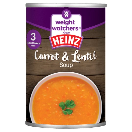 Heinz Weight Watchers Carrot And Lentil Soup 295G
