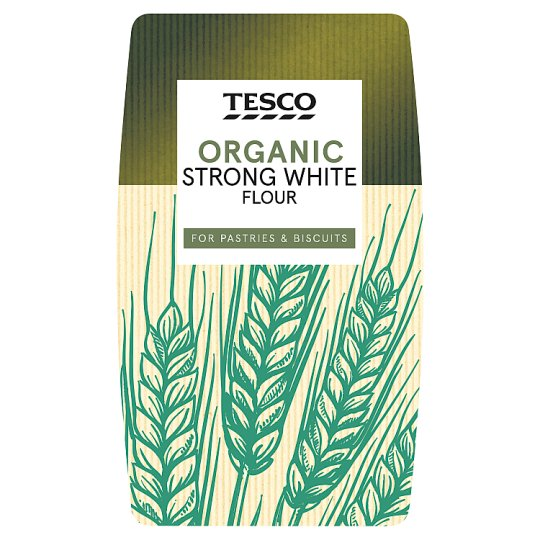 Tesco Organic Strong White Flour 1Kg
