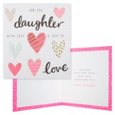 Tesco Birthday Card Daughter With Lots And Lots Of Love