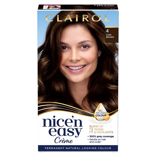 Clairol Nice 'N Easy Dark Brown 4 Hair Dye