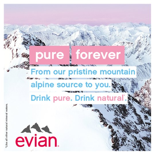 Evian Natural Mineral Water 6X1.5 Litre