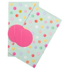 Tesco Watercolour Spots 2 Sheets 2 Tags
