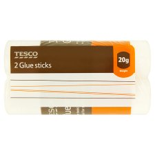 Tesco Glue Stick 20G 2 Pack