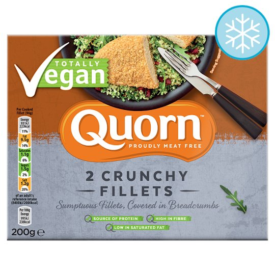 Quorn Vegan Breaded Fillet 2 Pack 200G