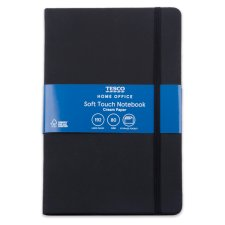 Tesco Black Soft Cover Notebook 96 Sheets