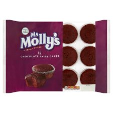 Ms Mollys Chocolate Fairy Cakes 12 Pack