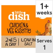 Little Dish 1Yr+ Chicken And Vegetable Risotto Ready Meal 200G