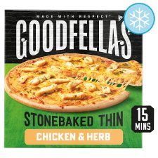 Goodfella's Stonebaked Thin Chicken Pizza 365G