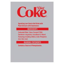 image 2 of Diet Coke Pack 6X250ml