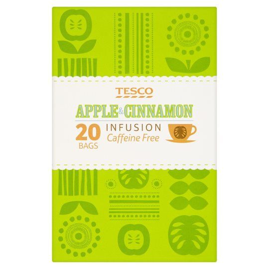 Tesco Apple Cinnamon 20 Tea Bags 50G