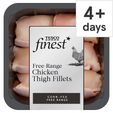 Tesco Finest British Cornfed Free Range Thigh Fillets 430G