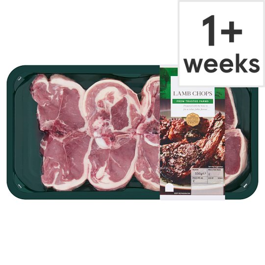 Tesco Lamb Chops 550G