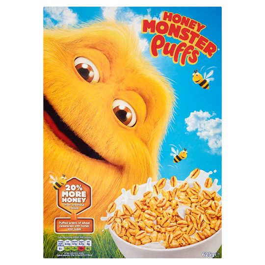 Honey Monster Puffs Cereal 625G