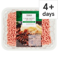 Tesco British Lamb Mince 20% Fat 500G