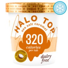 Halo Top Sea Salt Caramel Dairy Free Ice Cream 473Ml