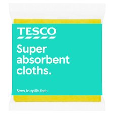 Tesco Super Absorbent Cloths 3 Pack