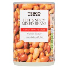 Tesco Hot And Spicy Mixed Beans 290G
