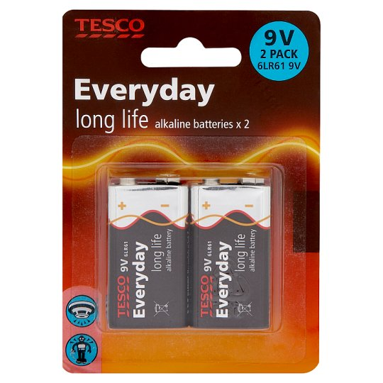 Tesco Long Life 9V 2 Pack