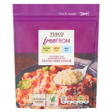 Tesco Free From Italian Style Hard Cheese Alternative 60G