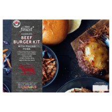 Tesco Finest Burger Kit With Pulled Pork 561G