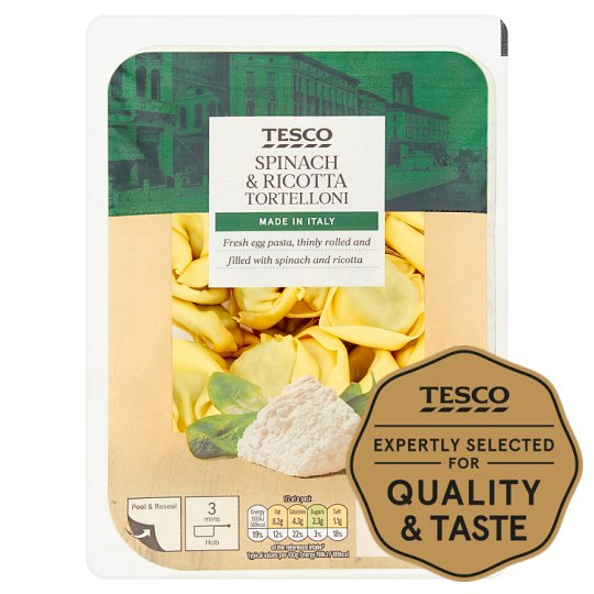Tesco Spinach And Ricotta Tortelloni 300G