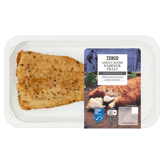 Tesco Lightly Dusted Haddock Fillet 128G