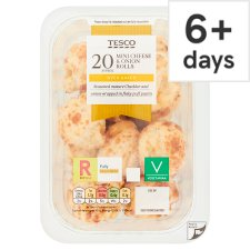 Tesco 20 Mini Cheese And Onion Rolls 220G