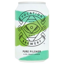 Vocation Brewery Pure Pilsner 4.5% Alcohol By Volume 330Ml