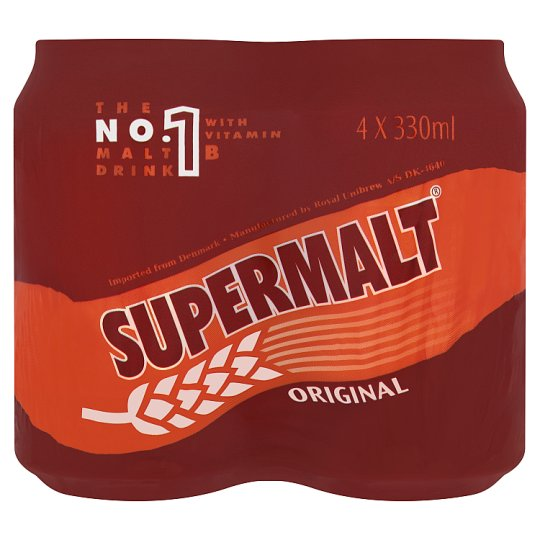 Supermalt Original Malt Drink 4 X 330Ml