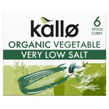 Kallo Organic Low Salt Vegetable Stock Cube 60G