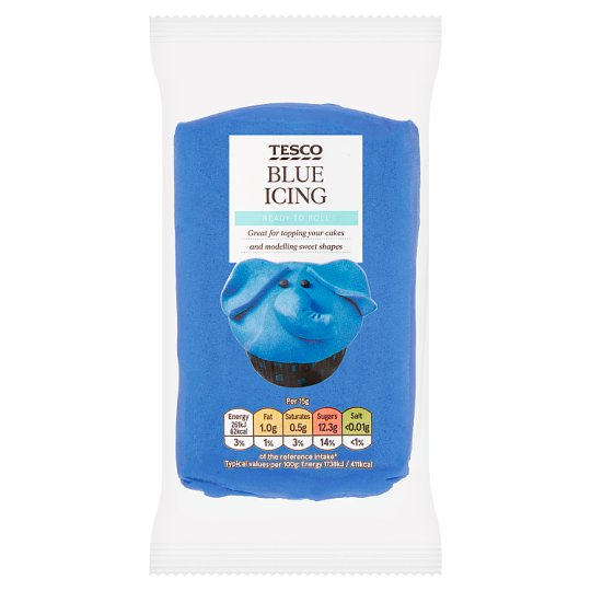 Tesco Primary Blue Ready To Roll Icing 250G