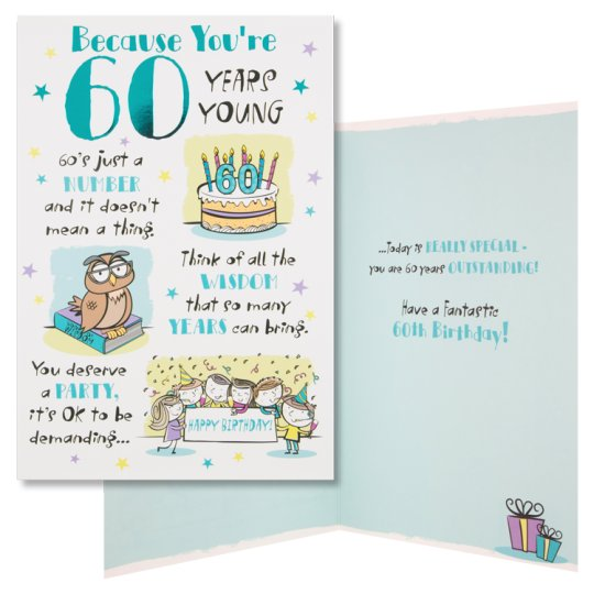 Hallmark Birthday Card Because Youre 60 Years Young