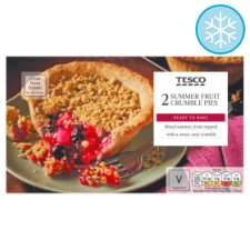 Tesco 2 Summer Fruit Crumble Pies 320G