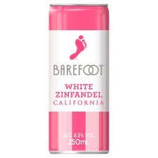 Barefoot White Zinfandel 250Ml Wine Can