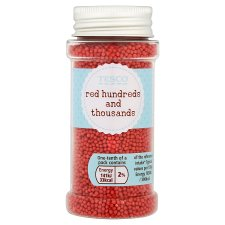 Tesco Sprinkles Red Hundreds And Thousands 85G