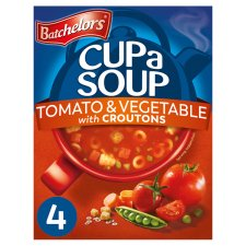 Batchelors Cup A Soup Tomato And Vegetable Croutons 4 Pack 104G