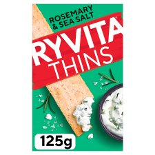 Ryvita Thins Rosemary And Sea Salt Flatbreads 125G