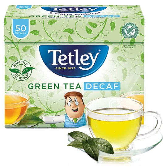 Tetley Decaffeinated Green Tea 50S 100G