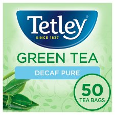 Tetley Green Tea Decaffeinated 50 Tea Bags 100G