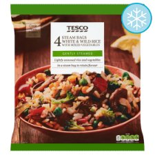 Tesco 4 Steam Bags Rice With Mixed Vegetables 600G