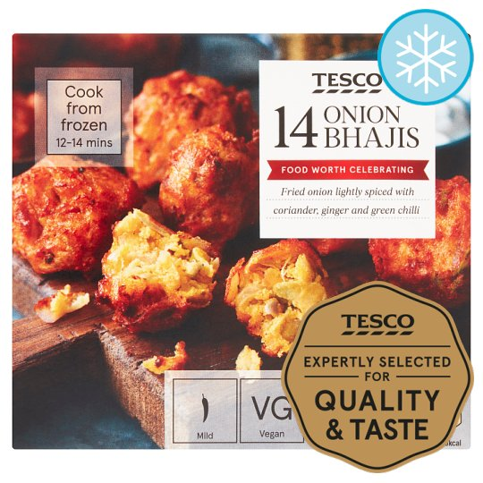 Tesco Frozen 14 Onion Bhajis 210G
