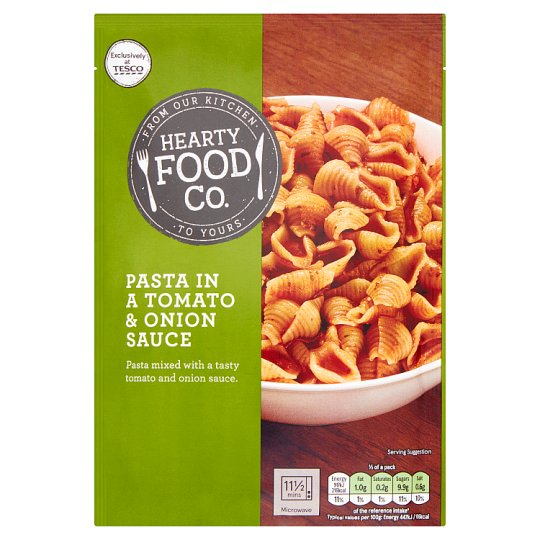 Hearty Food Co Pasta In Tomato And Onion Sauce 110G