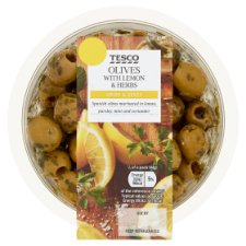 Tesco Olives With Lemon And Herbs 220G