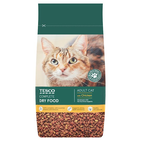 Tesco Adult Dry Cat Food With Chicken 3Kg