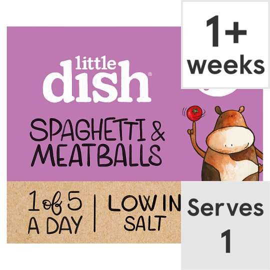 image 1 of Little Dish 1Yr+ Spaghetti Meatballs Toddler Meal 200G