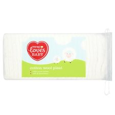 Tesco Loves Baby And Toddler Cotton Wool Pleat 200G
