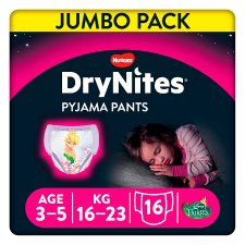 Huggies Drynites Girl 3-5 16 Pyjama Pants