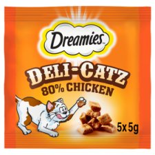image 1 of Dreamies Deli-Catz Treats With Chicken 5X5g