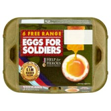 Eggs For Soldiers Free Range Eggs Mixed 6 Pack
